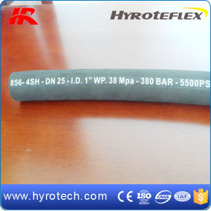High Temperature Flexible Hydraulic Rubber Hose Assembly SAE 100r12 pictures & photos