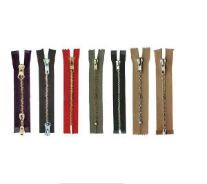 Metal Zipper Copper Zipper Open End One Way and Two Way pictures & photos