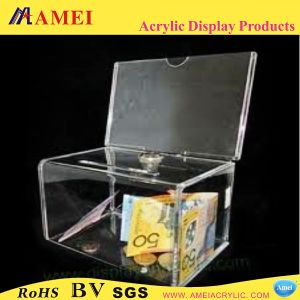 Acrylic Donation Box with Lock (AAL-16)