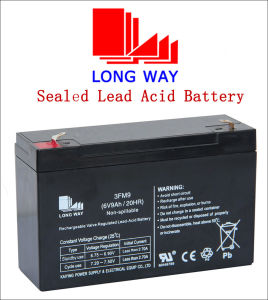 6V9ah Security Equipment Rechargeable Sealed Lead-Acid Battery pictures & photos
