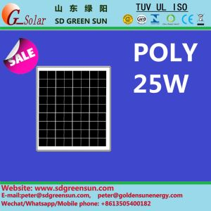 18V 25W Poly Solar PV Panel pictures & photos