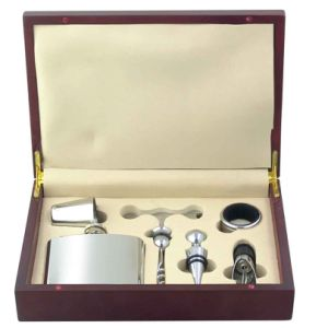 Wine Hip Flask Set with Gifts Box