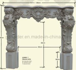 Fireproof PU Fireplace Mantel Polyurethane Decorative Cornices pictures & photos