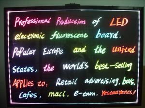 LED Fluorescent Writing Board,Outdoor LED Signs (F-750) pictures & photos
