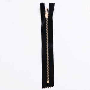 5# Close End Silk Tape Metal Brass Zipper (JH-MZ-22)