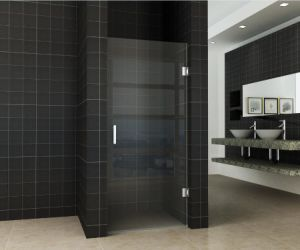 Aluminium Frame Bathroom Matted Glass Shower Screen for Sale pictures & photos
