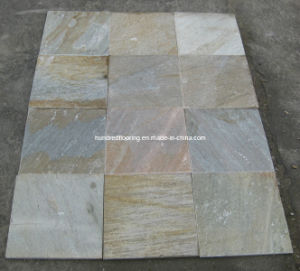 Yellow Wood Vein Culture Stone Slate Tile pictures & photos