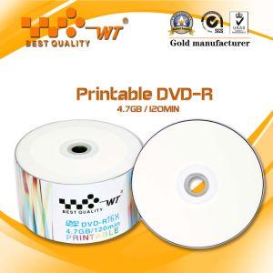 Glossy Printable DVD Virgin Material 8x/4.7GB/120MIN