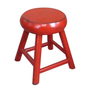 Chinese Antique Furniture Red Stool pictures & photos