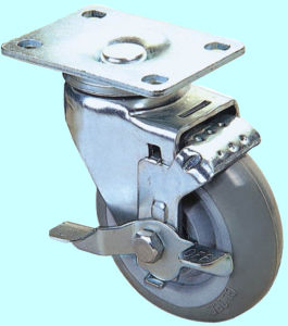 Medium Duty Fixed PU Caster for industrial Used (Gray) pictures & photos