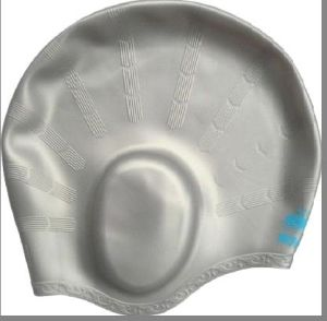 Ear Protected Silicone Swimming Cap pictures & photos