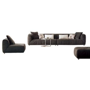 Large Size Modern Fabric Sectional Sofa Set in Living Room (F817) pictures & photos