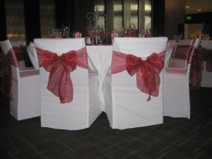 Banquet Chair Cover With Square Top / Wedding Chair Cover