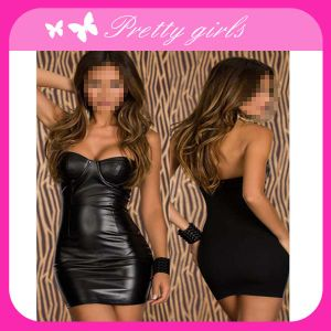 Black Fashion Fancy Dress with Top Quality