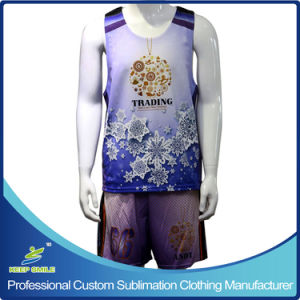 Custom Full Dye Sublimation Knitted Sports Clothes for Lacrosse Game pictures & photos