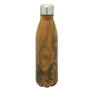 Stainless Steel Vacuum Water Bottle Wood & Drop pictures & photos