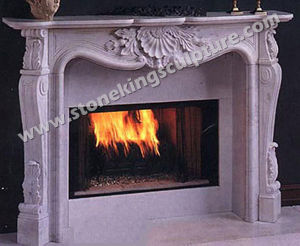Hand Carved Indoor Marble Fireplace (SK-1463) pictures & photos