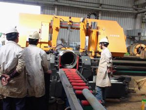 Numerical Control Pipe Cutting Band Saw Machine