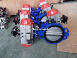 Pneumatic Wafer Butterfly Valve High Quality pictures & photos