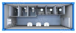 Public Washroom/Public Toilet/Public Ablution Cabin (shs-fp-ablution025) pictures & photos
