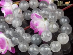 Natural Cloudy Quartz Beads (10mm Round)