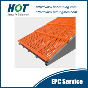 Wear Resistant PU Mesh Polyurethane Vibrating Screen Panel pictures & photos