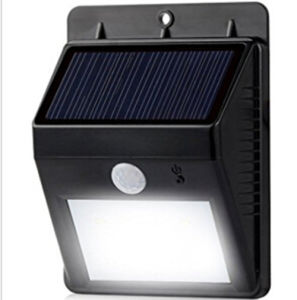 Green Shell Sensor Solar Outdoor LED Wall Light pictures & photos