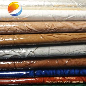 Top Selling Fabric of Synthetic PU Leather for Bag with Embossed Surface Fsb17m1e pictures & photos