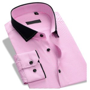 Latest Design 100% Cotton Formal Full Sleeve Men′s Dress Shirt pictures & photos