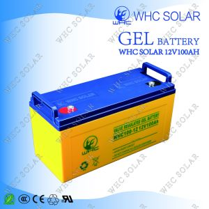 Whc 12V100ah Long Life Guaranteed Colloid Battery for Solar System pictures & photos