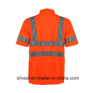 Class 3 Traffic Safety Reflective Polo Vest with V Neck En ISO pictures & photos