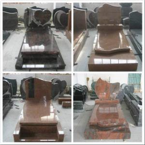 European Style Black Granite Mmonument Tombstone pictures & photos