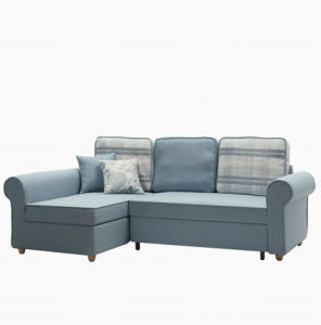Fabric Corner Sofa with Pullout Bed and MDF Big Box pictures & photos