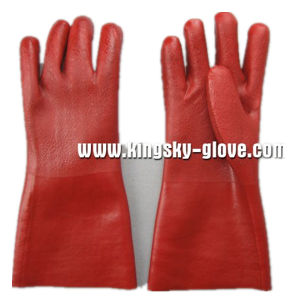 PVC Sandy Finish Jersey Liner Vinyl Glove-5125. Rd pictures & photos