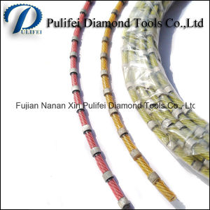 Rubber Plastic Sintered Beads Diamond Wire Saw Cutting Granite Marble Concrete pictures & photos