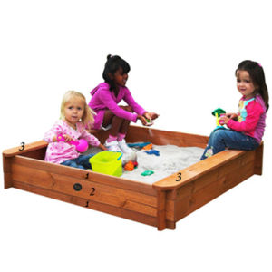 Children′s Square Sandpit Backyard Playhouse Wooden Sandbox