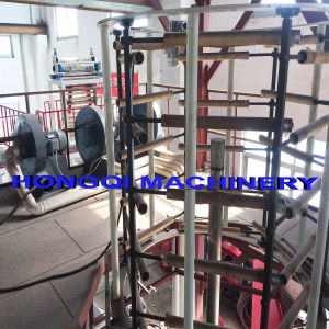 Three Layers Tower Rotation Coextrusion Blown Film Machine pictures & photos