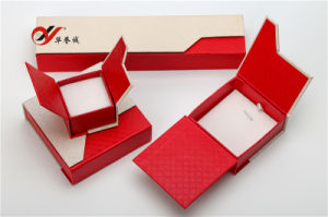 Red Special Paper Jewelry Box Set with Magnet for Ring pictures & photos