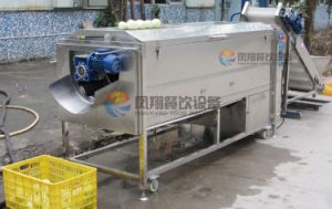 Industrial Large Automatic Screw Type Vegetable Carrot Melon Radish Washing and Peeling Machine pictures & photos