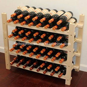 Stackable Wooden 60 Bottle Wine Storage Rack pictures & photos