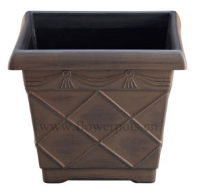 Square Plastic Garden Planter (KD432P-KD433P) pictures & photos