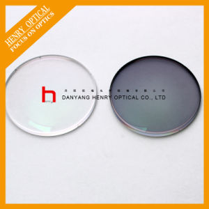 Semi-Finished 1.56 Flat Top Photochromic Gray Optical Lens Hc pictures & photos