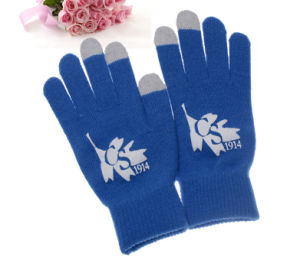 High Quality Printed Logo Knitting Gloves pictures & photos