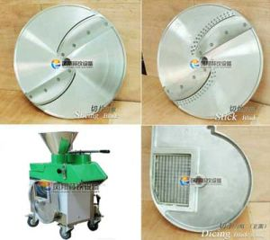 FC-311 Horizontal Type Tomato Disc Cutting Machine, Lemon Disc Slicing Machine pictures & photos