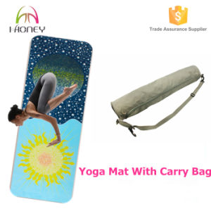 Moon and Star Design Washable Yoga Mat with Non Slip Surface pictures & photos