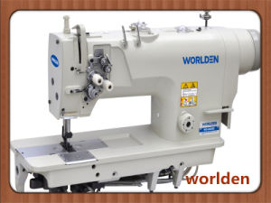 High-Speed Double Needle Single Needle Bar Mini-Oil Lockstitch Sewing Machine with Standard Hook Wd-8420d pictures & photos