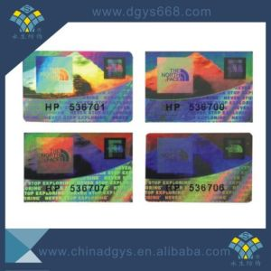 3D Dynamic Security Laser Hologram Label Anti-Fake Sticker pictures & photos