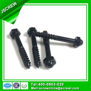 Black Customized 1/4X45 Cap Special Self Tapping Screw pictures & photos