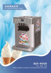 Table Model Double Cylinder Soft Ice Cream Machine/Double Color pictures & photos