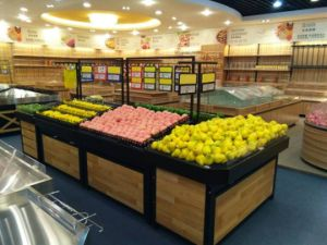 Island Fruit and Vegetable Display Gondola Shelf pictures & photos